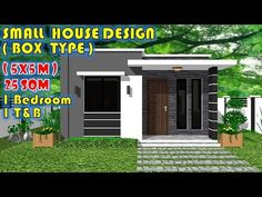 Small Modern House Plans, Modern Small House Design, Small Homes, Box Design, Dining Area, Minimalism, Type, Bedroom, Simple
