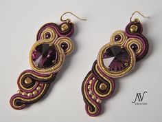 earrings with soutache