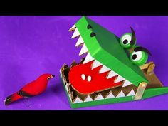 YouTube Homemade Toys, Crocodiles, Wooden Toys, Projects To Try, Gadgets, Activities, Christmas Ornaments, Holiday Decor, Youtube