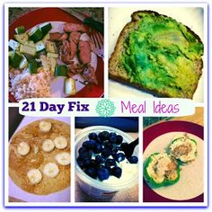 The Sacrificial Sports Mom: 21 Day Fix - meal and snack ideas