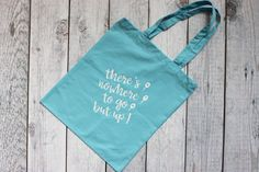 There's nowhere to go but up Tote Mary Poppins Tote Teacher Bags, Teacher Shirts, Reusable Shopping Bags, Reusable Tote Bags, Nanny Gifts, White Heat, New Sticker, Mary Poppins, Disney Shirts