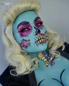 ROCKABILLY POP ART ZOMBIE PINUP GIRL //IG》 BANGTSIKITSIKI