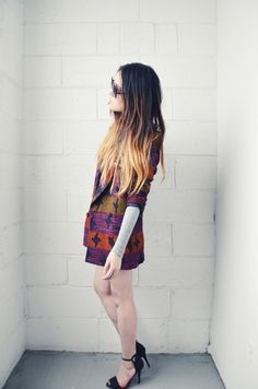 dramatic asian ombre hair