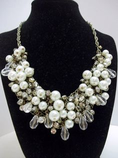 Hey, I found this really awesome Etsy listing at https://www.etsy.com/listing/216390905/1980s-runway-cascade-bib-necklace-clear