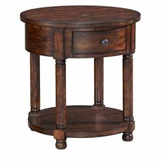 Broyhill - Attic Heirlooms Round End Table in Rustic Oak - 3399-012