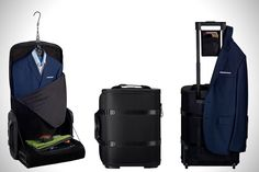 Voicer c38 luggage. Sophisticated, yet surprisingly durable. For the man on-the-go #travel Find it difficult to carry your suit around when travelling on business's trips? This bag can help you travel with all your essentials keeping your suit neatly stored. So you will never walk into a meeting with your suit creased. #Dropoutculture
