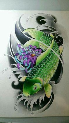 Koi Fish Information Koi Fish Tattoo Forearm, Pez Koi Tattoo, Koi Tattoo Sleeve, Japanese Sleeve Tattoos, Japanese Koi Fish Tattoo, Koi Fish Drawing, Graffiti Tattoo, Leg Tattoos, Body Art Tattoos