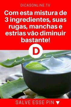 Remédio para rugas | Com esta mistura de 3 ingredientes, suas rugas, manchas e estrias vão diminuir bastante! | Você vai gostar disso... Leia e saiba ↓ ↓ ↓