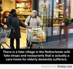Amazing Village Just For People With Dementia Lets Them Live Normally And Safely. A center in the Netherlands pioneers a sensitive new form of care for dementia and Alzheimer's patients! Uber Facts, Wtf Fun Facts, Random Facts, Random Stuff, Strange Facts, Crazy Facts, Strange Things, Random Things, We Are The World