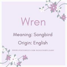 Exotic Names, Rare Names, Unique Names, Unique Words, Cute Baby Names, Baby Girl Names, Boy Names, Wren Name, Viking Baby