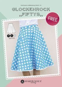 Bell skirt Fiftys - free pattern and instructions-Glockenrock Fiftys – kostenlose Anleitung und Schnittmuster Freebook bell skirt Fifty's beautiful skirt for women sew -{hashtags Sewing Dress, Love Sewing, Sewing Clothes, Diy Clothes, Sewing Hacks, Sewing Tutorials, Sewing Tips, Wallpaper Food, Poncho Crochet