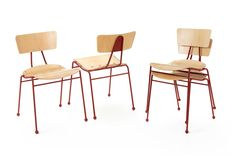 Roebuck Chair - Red by Race Furniture | MONOQI