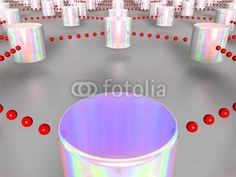 3D rendered illustration of multiple interlinked cylinders, referring to concepts such as internet, networks, database, cloud computing, as well as high technologies in general / ID 34413591 / Copyright JNT Visual