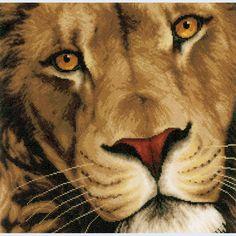 King of Animals - Lanarte counted cross stitch kit