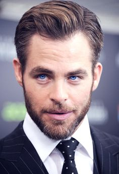 Chris Pine. SubCategory A: Suit Porn. SubCategory B: Iris Porn. SubCategory C: I Believe I May Now Be With Child.