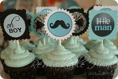 Babyshower Cupcake Topper found at  http://www.remarkable-home.blogspot.com/2012/01/little-man-showerparty-items.html#