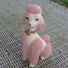Vintage Lefton pink poodle figurine