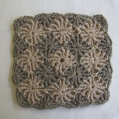 CrochetDad Ramblings: CrochetDad's Wheel Stitch Block Tutorial - Ending Round