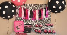 Pink & Black Glam Baby Shower