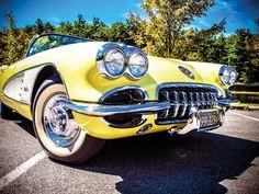 1958 Corvette at Black Moshannon State Park, Pennsylvania 1958 Corvette, Chevrolet Corvette, Chevy, New Luxury Cars, Yellow Car, Us Cars, Car Photos, Muscle Cars, Autos