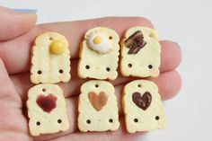 Toast Polymer Clay Charms by RawrRufus.deviantart.com on @DeviantArt