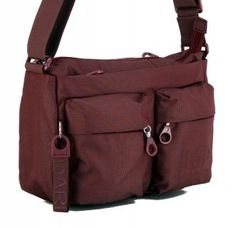 !!!Mandarina Duck Crossovertasche MD20 weinrot Cabernet Nylons, Hook And Loop Fastener, Handbags, Blue, Nylon Stockings