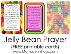 Celebrate Easter with the Jelly Bean Prayer! Simply grab a jar, jelly beans, ribbon and the FREE printable to make this great handmade holiday gift idea for kids! Jelly Bean Jar, Jelly Beans, Jellybean Prayer, Holiday Fun, Holiday Crafts, Holiday Ideas, Happy Resurrection Sunday, Easter Poems, Prayer Jar