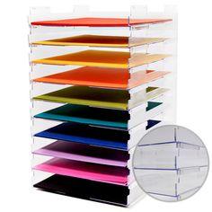 傘工芸品 -  12×12スタッカブル用紙トレイ - いいえ、リップ -  10パック