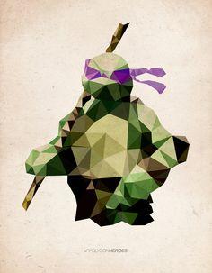 ninja turtle paper collage