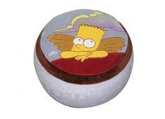 SIMPSON POUFF PICCOLO BART ANGELO  Pouff gonfiabile di piccole dimensioni in tessuto con disegno di Bart