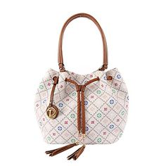 Loslandifen Womens Bucket Bag PU Leather Purse Casual Lattice pattern Tote Bag Lovely Handbag 909YP *** Read more reviews of the product by visiting the link on the image.Note:It is affiliate link to Amazon.