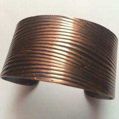 This copper cuff gives a great natural look. $50