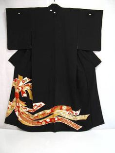 Fabulous Traditional Japanese Silk Wedding Kimono by Ritzco, $120.00