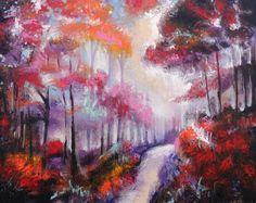 Tree Painting  Landscape Original painting by skyetaylorgalleries, $250.00