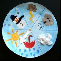 Wetteruhr mit Kindern gestalten