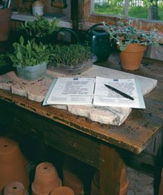 A garden journal is a great way to keep track of what plant blooms when, as well as seed-starting schedules, and new garden-design ideas.