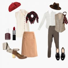 Bonnie & Clyde #DIYCostume! Many more adorable #Halloween ideas here: http://wishi.me/Halloween