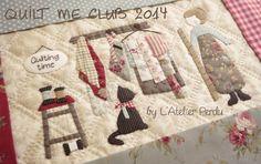 L'Atelier Perdu Blog: Quilt Me Club 2014 - Part 1