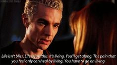"Community Post: 13 Reasons Spike From ""Buffy"" Is The Best Vampire Ever ""So one of us is living. Spike Buffy, Buffy The Vampire Slayer, Spike Quotes, Real Vampires, Joss Whedon, Favorite Tv Shows, Best Shows Ever, Movies And Tv Shows, In This World"