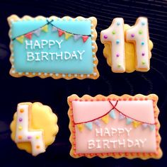 誕生日プレート♡アイシングクッキー