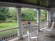 someday... a porch with big white rocking chairs