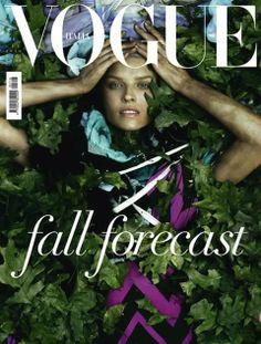 Eva Herzigova, photo by Steven Meisel, Vogue Italia, June 2010*