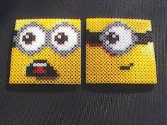 Perler Bead Minion Coasters by angelferret