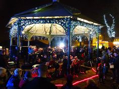 Image result for bandstand at christmas night