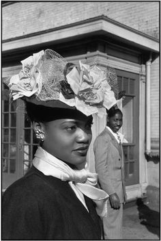 Henri Cartier-Bresson  USA. NYC. Harlem. 1947. Easter Sunday.