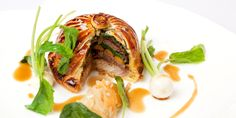 Braised ox cheek comes encased in pastry and served with choucroute in this pithivier recipe from Colin McGurran