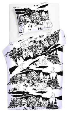 Moomin duvet set from Finnish Finlayson.