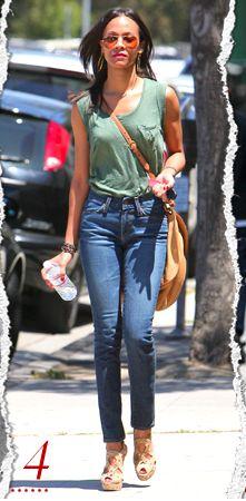 Zoe Saldana via whowhatwear