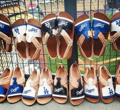 THINK BLUE: #dodgers season is still early. Purchase your pair.  Lady's sizes: 6sand 7s only. Men sizes: 91011s only. #huaraches #sandals #baseball #summer #mexican #instafashion #airforcejuans #kicks #beach #sun #buylocal #streetwear #sunset #venicebeach #santamonicapier #doyers #adriangonzalez by vinny_viddi_vici