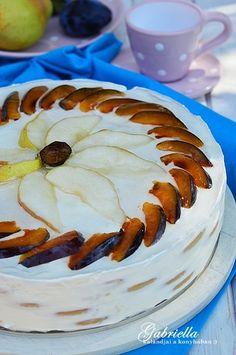 Gabriella kalandjai a konyhában :): torta Hungarian Desserts, Hungarian Recipes, No Bake Desserts, No Bake Cake, Camembert Cheese, Goodies, Pizza, Sweets, Baking